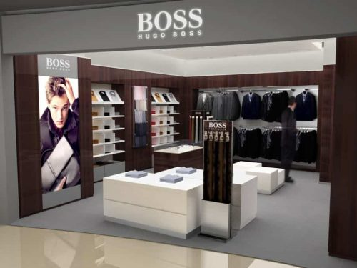 3D Renderings Boss Store Shanghai für Hugo Boss