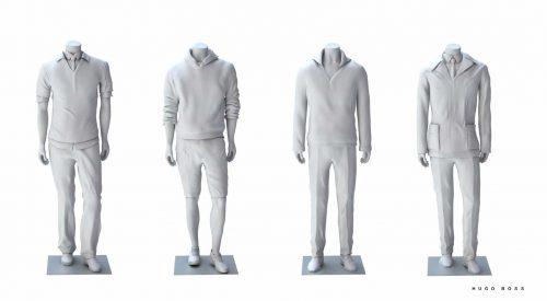 3D Rendering Mannequins für Hugo Boss