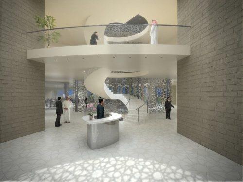 3D Renderings Eingangshalle Dubai für SL-Rasch GmbH