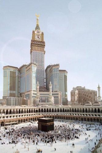 3D Fotomontage von Abraj Al Bait Tower für SL-Rasch GmbH