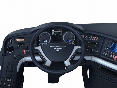 3D Rendering von Innenraum Nutzfahrzeuges für MAN