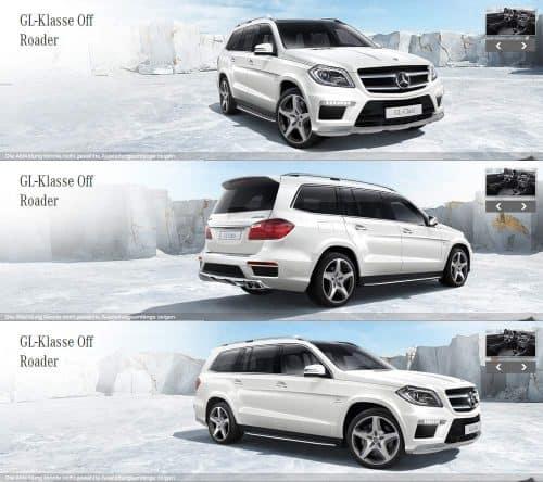 3D Renderings für Mercedes GL Class